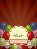 Balloons Colors with Banner Background Stock Photography