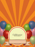 Balloons Colors with Banner Background Royalty Free Stock Photos