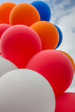 Balloons in the colors of the dutch flag Stock Photos