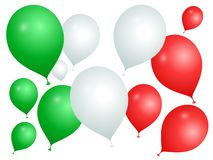 Balloons in the colors of Italy on a white background vector illustration
