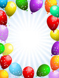 Balloons and confetti Stock Photography