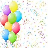Balloons and confetti. Stock Photo