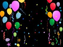 Balloons and confetti Royalty Free Stock Photography