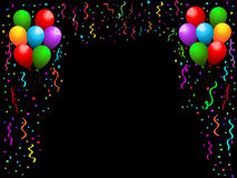 Balloons and confetti Stock Photos