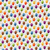Balloons and confetti background seamless Stock Image