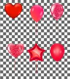 Balloons and confetti party background, concept design. Celebrat. Ion Vector illustration.Colorful celebration royalty free illustration