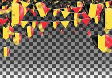 Balloons with Countries flags of national Belgium flags team gro. Up and ribbons flag ribbons, Celebration background template. victory.winner.football Stock Photography