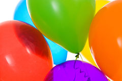 Balloons: Crop of Vibrantly Colored Balloons Royalty Free Stock Photo