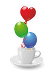 Balloons cup Stock Photo