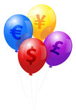 Balloons Currency Stock Photo