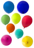 Balloons cut out on a white background Royalty Free Stock Images