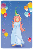 Balloons with Cute girl Royalty Free Stock Photo