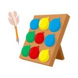 Balloons dart game cartoon icon Stock Photo