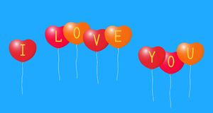 Balloons with a Declaration of love. Stock Photography