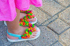 Free Balloons Decorating Flip-flops Stock Photography - 32219762