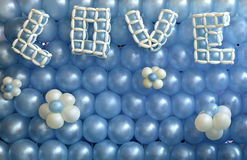 Balloons decoration background. With LOVE alphabets Stock Image