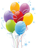 Balloons. Decoration ready for posters and cards Stock Images