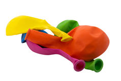 Balloons deflated Stock Image