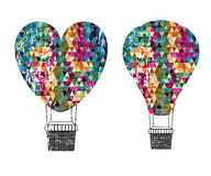 Balloons design. Over white background vector illustration Royalty Free Stock Photo