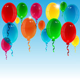 Balloons of different color Stock Images