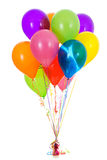 Balloons: Dozen Bright Colored Balloon Bouquet Royalty Free Stock Photo