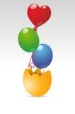 Balloons egg Stock Image