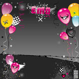 Balloons Emo composition Stock Images