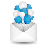 Balloons in the envelope Royalty Free Stock Image