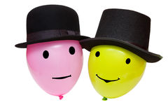 Balloons in a hats Royalty Free Stock Photography