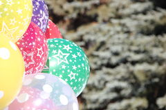 Balloons. Festive balloons in the background eating Stock Photography