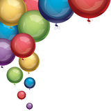 Vector balloons. Vector festive colorful balloons on white background Stock Photography
