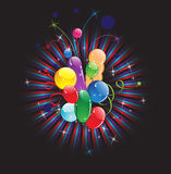 Balloons and festive ribbon Royalty Free Stock Image