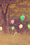 On balloons field Royalty Free Stock Images