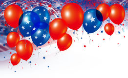 Balloons on fireworks background Royalty Free Stock Image