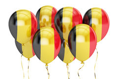 Balloons with flag of Belgium, holyday concept. 3D rendering Royalty Free Stock Photography