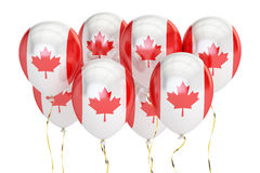 Balloons with flag of Canada, holyday concept. 3D rendering Stock Image