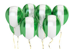 Balloons with flag of Nigeria, holyday concept. 3D rendering Stock Photography