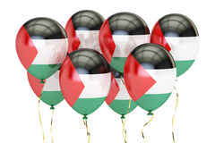Balloons with flag of Palestine,  holyday concept. 3D rendering Stock Photo