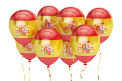 Balloons with flag of Spain, holyday concept. 3D rendering Royalty Free Stock Image