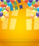 Balloons and flags. Royalty Free Stock Image