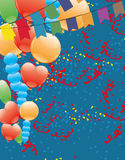 Balloons and flags. Royalty Free Stock Photo