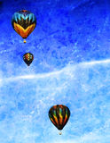 Balloons in flight Royalty Free Stock Photo