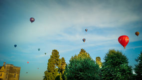 Balloons in flight Stock Images