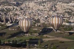 Balloons in flight. Stock Photography