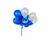 Balloons floating isolated. On white background Stock Image