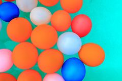 Balloons floating in pool background royalty free stock photos