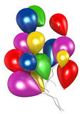 Balloons. Fluttering colored balloons on a white background Royalty Free Stock Photography
