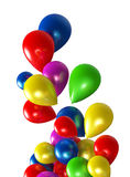 Balloons. Fluttering colored balloons on a white background Royalty Free Stock Photos