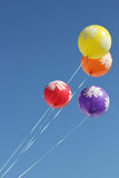 Balloons fly in the sky Stock Images