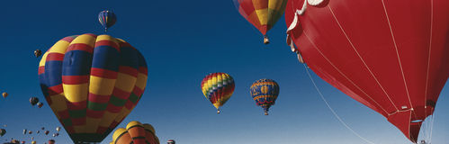 Balloons flying in Albuquerque Balloon Festival Royalty Free Stock Image